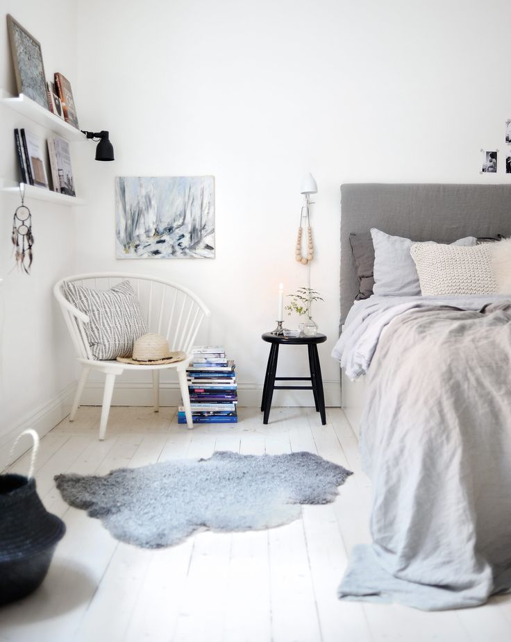 Scandinavian Home Designs choose white and grey