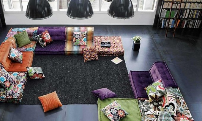 Home Design Ideas Home Design Ideas: colorful Sofas Colorful Sofa for Living Room Design Idea by Roche Bobois 800x464