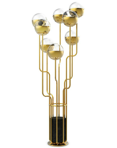 Gold floor lamp home design ideas for Gold shell floor lamp