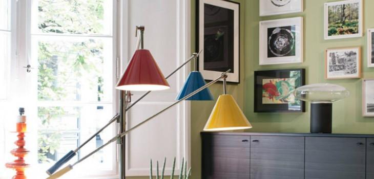 Mid-Century Modern Home Design by Gisbert Pöppler working area sinatra floor lamp by delightfull