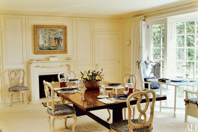 10 Stunning Celebrity Dining Rooms to Be Inspired by Bunny Mellon's home,
