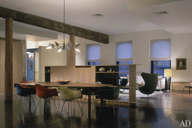 10 Stunning Celebrity Dining Rooms to Be Inspired by Manhattan loft,
