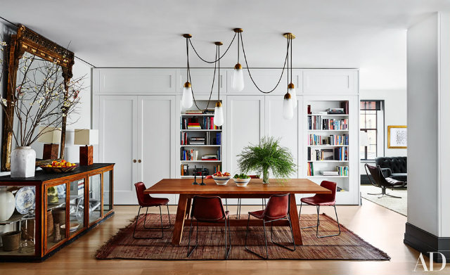 10 Stunning Celebrity Dining Rooms to Be Inspired by Naomi Watts and Liev Shreiber's Manhattan apartment,
