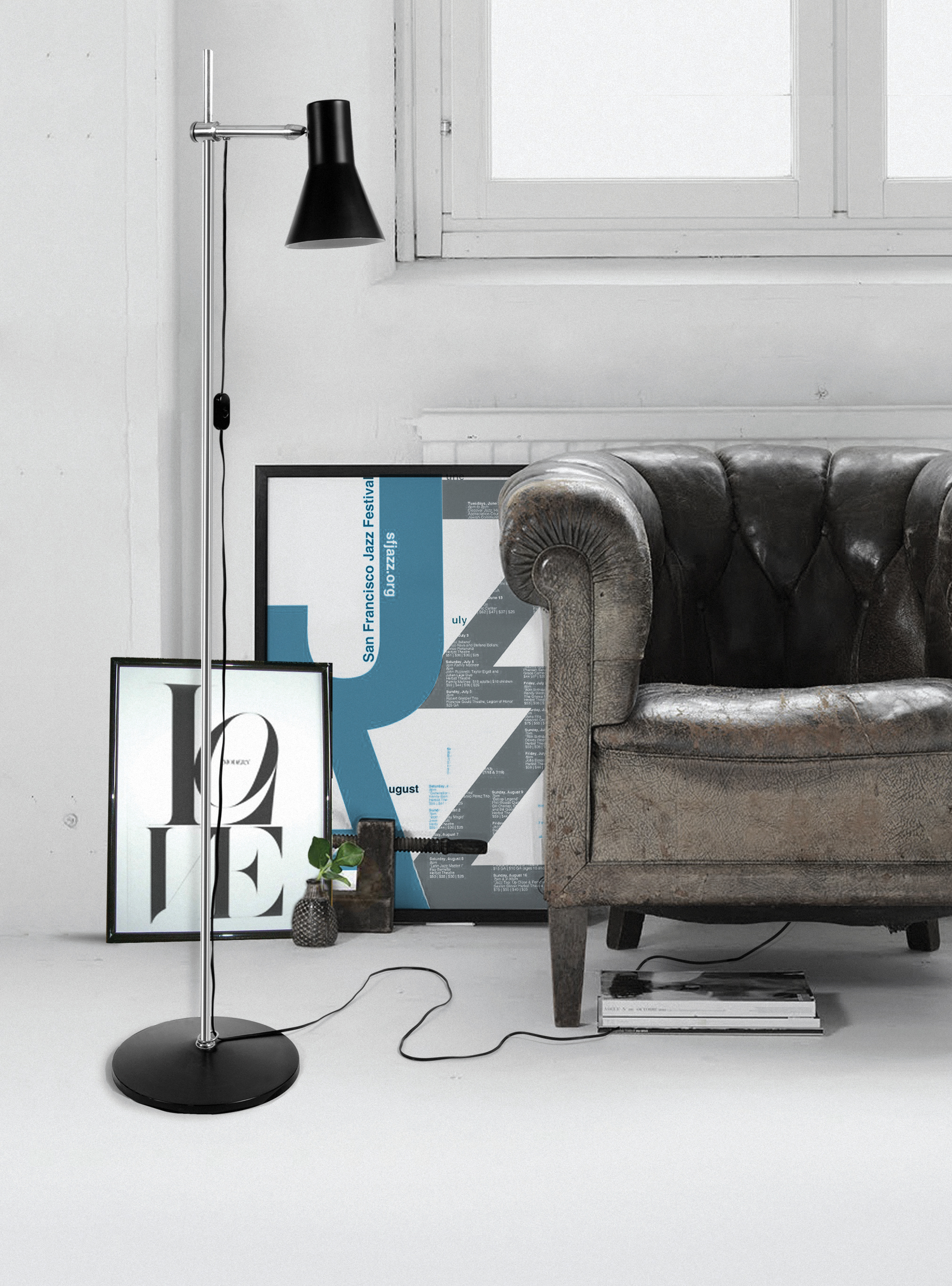 Use a Floor Lamp in a Reading Corner