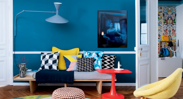 home design ideas Home Design Ideas: A modern apartment design featuring pop colors featured 4