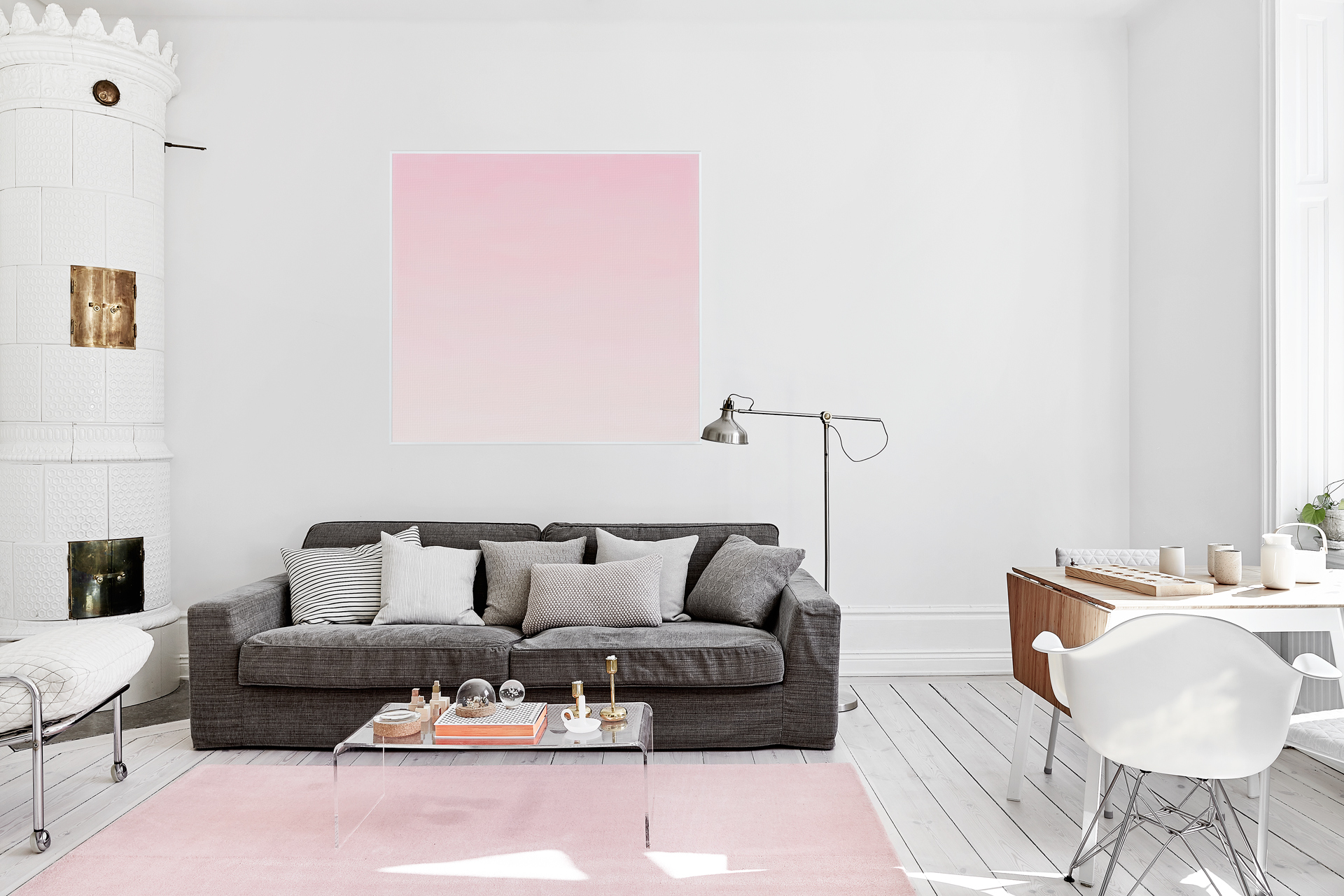 featured summer summer colors Summer Colors to Use in Your Home Design Ideas summer blush ombre pink scandinavian interior living room