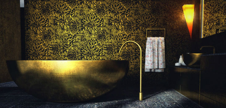 10 Best Golden Aesthetics for Your Bathroom Design bathroom design 10 Best Golden Aesthetics for Your Bathroom Design featured 14