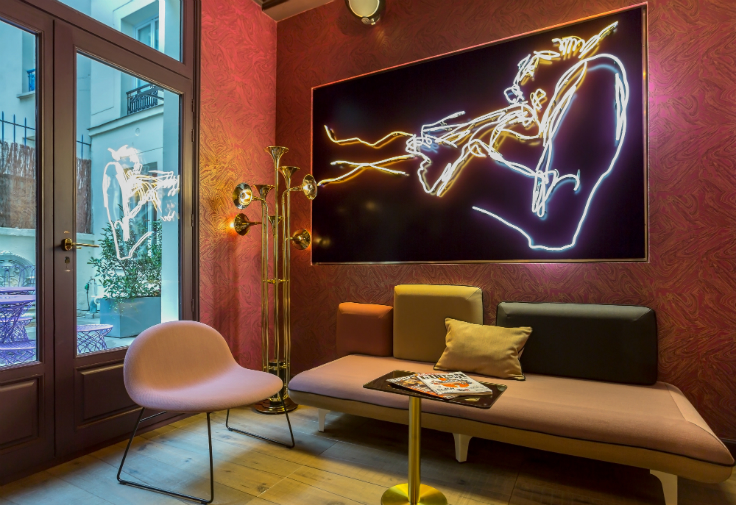 Idol Hotel: a mid-century oasis in the heart of Paris mid-century Idol Hotel: a mid-century oasis in the heart of Paris LOBBY 1 IDOL HOTEL PARIS 8