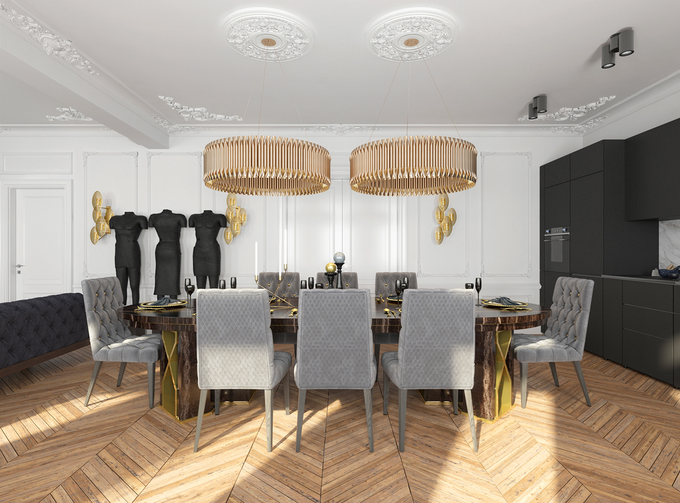 HOW STUNNING CAN A BLACK APARTMENT DESIGN BE? black apartment HOW STUNNING CAN A BLACK APARTMENT DESIGN BE? 5509a141528775