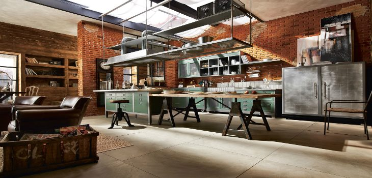 industrial style Industrial Style: Kitchen Decorating Ideas Vintage and Industrial Style Kitchens 10 730x350