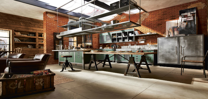 industrial style Industrial Style: Kitchen Decorating Ideas Vintage and Industrial Style Kitchens 10