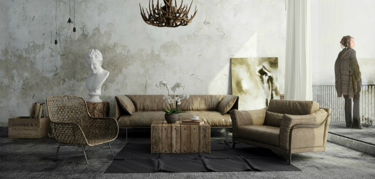 industrial style 5 Inspirations For Your Industrial Style Lounge Room featured8