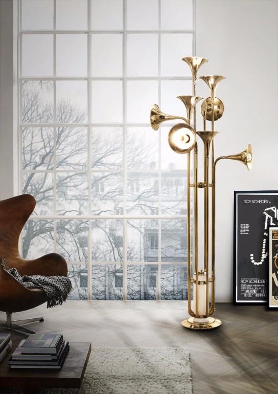 mid-century modern floor lamps living room