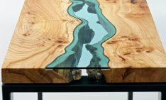 featured Coffee table Stunning Wooden Coffee table With Glass Rivers and Lakes featured 6 234x141
