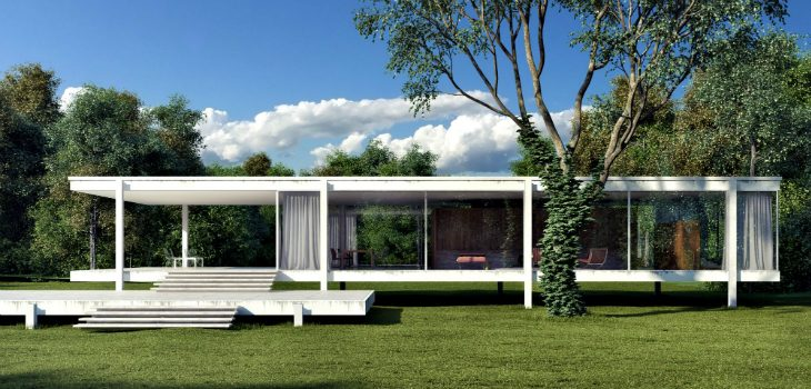 fall in love with mies van der rohe world known farnsworth house. Black Bedroom Furniture Sets. Home Design Ideas