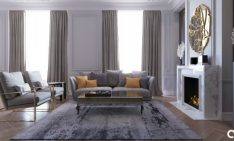 Modern Apartment Design with Velvet Details and Top Lighting Designs_feat
