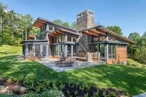 Contemporary Home Design with Wood Details