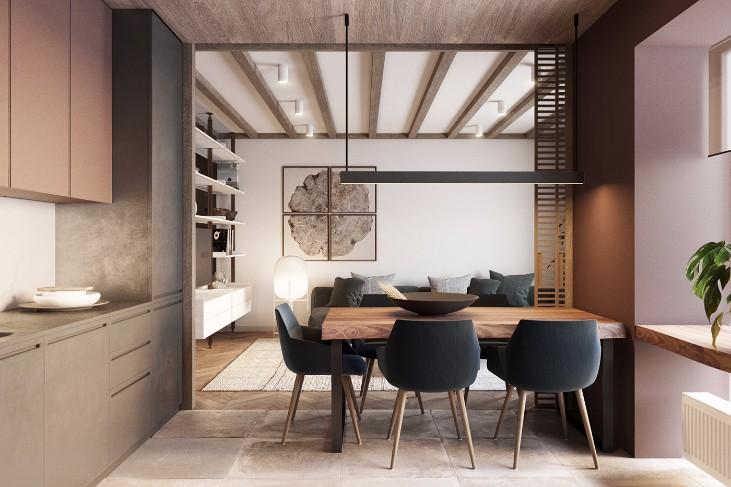 Contemporary Apartment Discover a Contemporary Apartment with Wood Details Discover a Contemporary Apartment with Wood Details 2