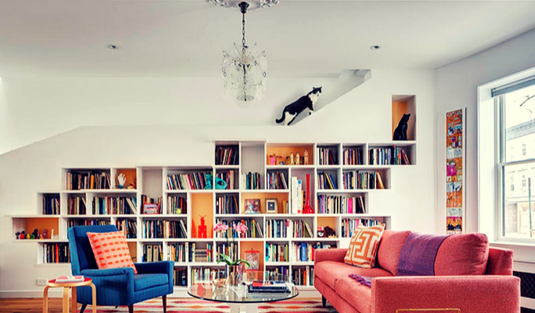 Check This Built In Book Case for Your Home Interior Design!