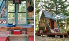 Tiny A Frame Cabin With Inspiring Design!