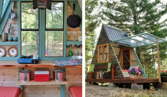 Tiny A Frame Cabin With Inspiring Design!
