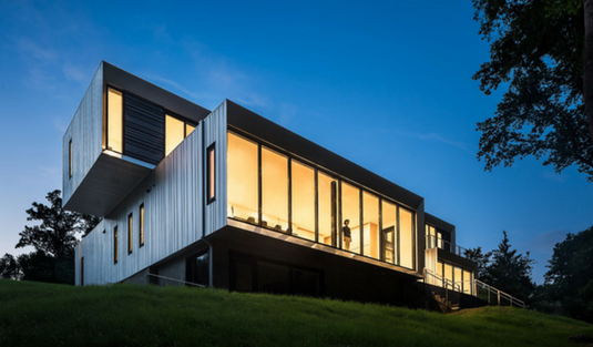 The Bridge House A Contemporary Home Design Concealed With Nature