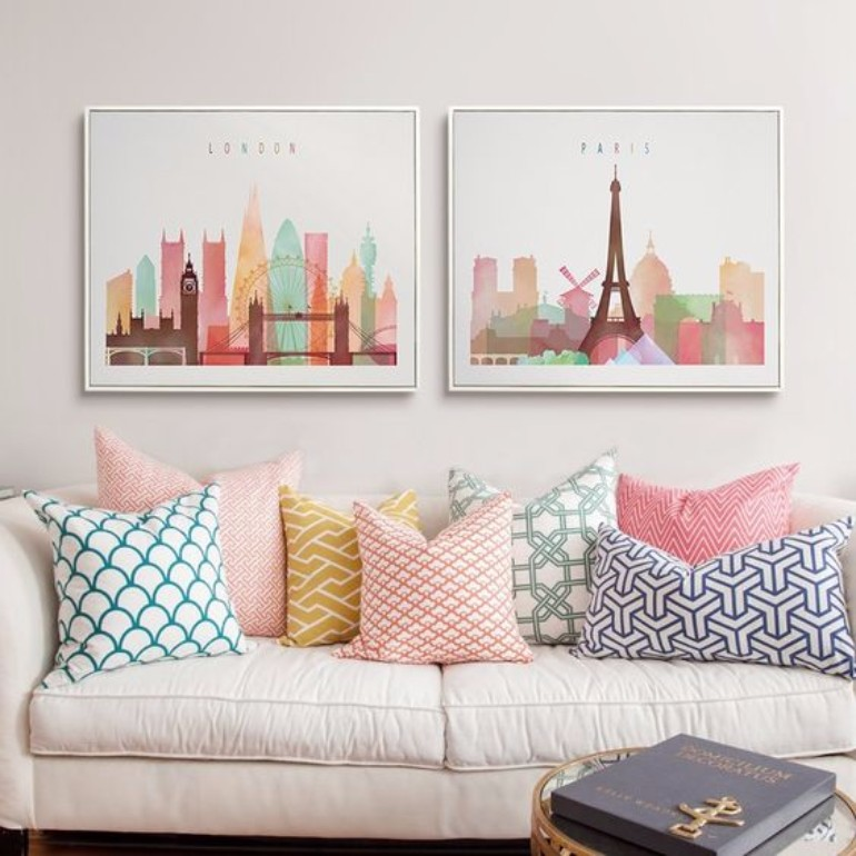 Living Room Decor Inspired Look How To Style A Pile of Pillows 4