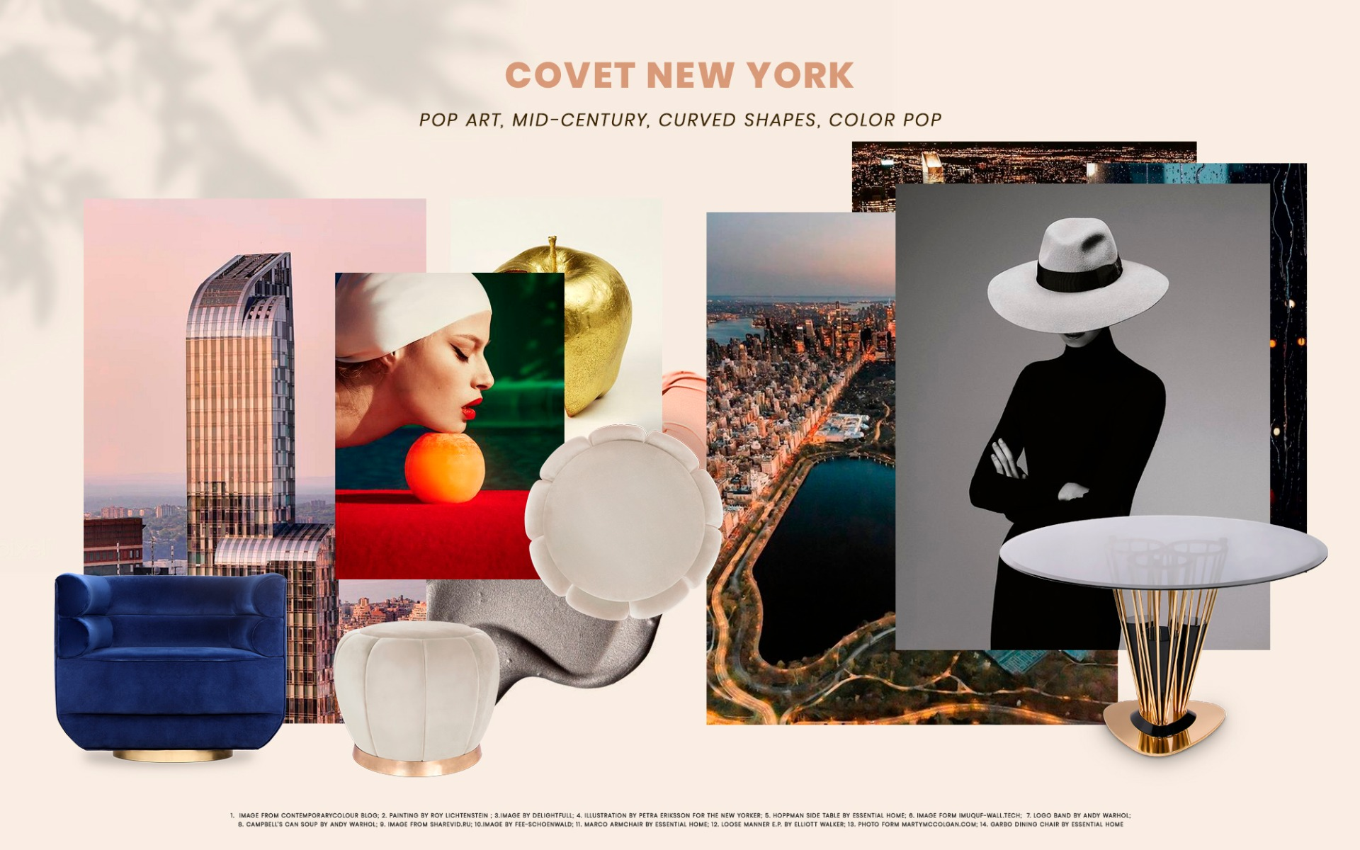 luxury design Discover Why You Must Visit NYC's New Luxury Design Stagging Project Moodboard