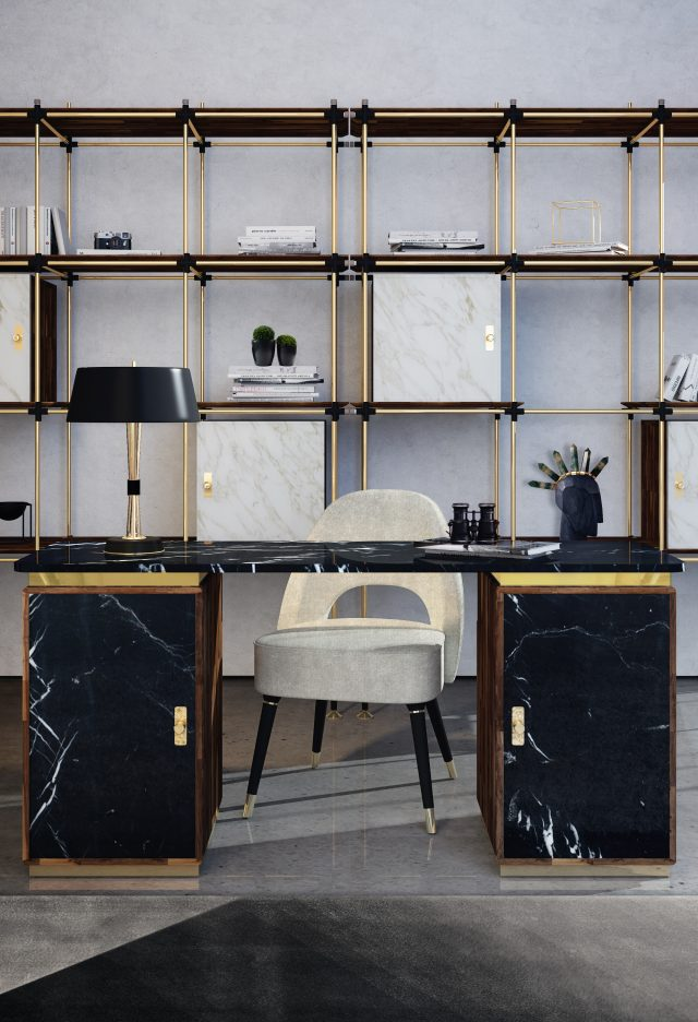 The 12 Luxury Desks That You'll Love In Your Home Office_1 luxury desks The 12 Luxury Desks That You'll Love In Your Home Office The 12 Luxury Desks That Youll Love In Your Home Office 1